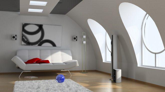 Комната в стиле хай-тек