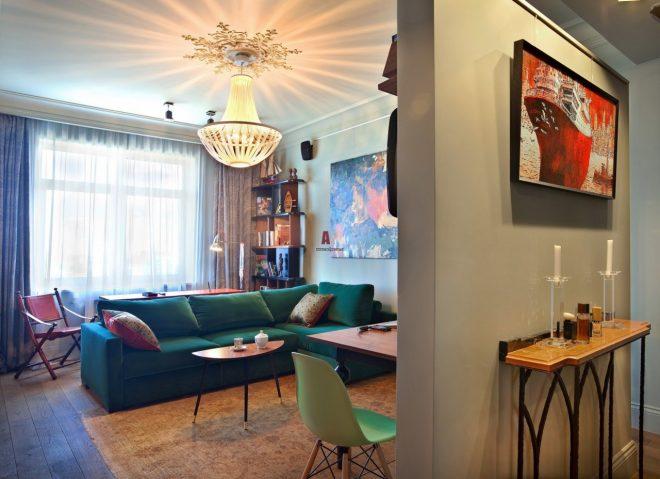 Квартира-студия в стиле фьюжн