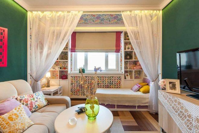 Дизайн однокомнатной квартиры для семьи с ребёнком