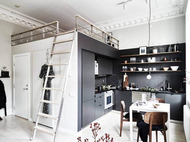 Дизайн квартиры-студии в стиле лофт