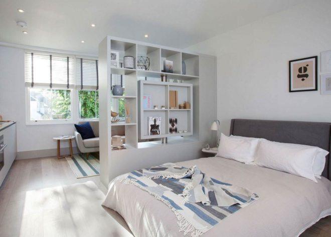дизайн квартиры студии с отдельной спальней