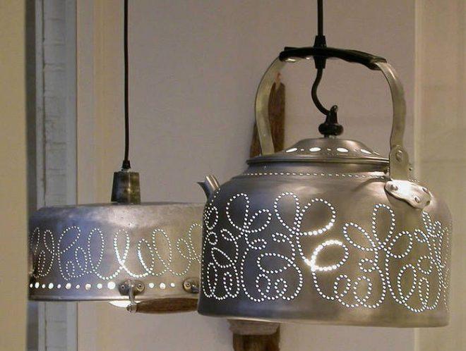 Лампа из чайника