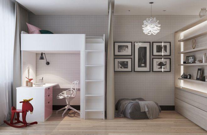 Кровать и стол