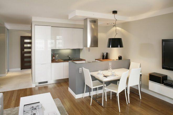 Дизайн жилого помещения в светлых тонах