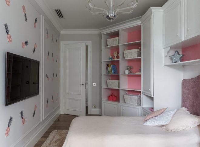 Интерьер со встроенной мебелью