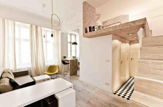 Дизайн квартиры с надстройкой