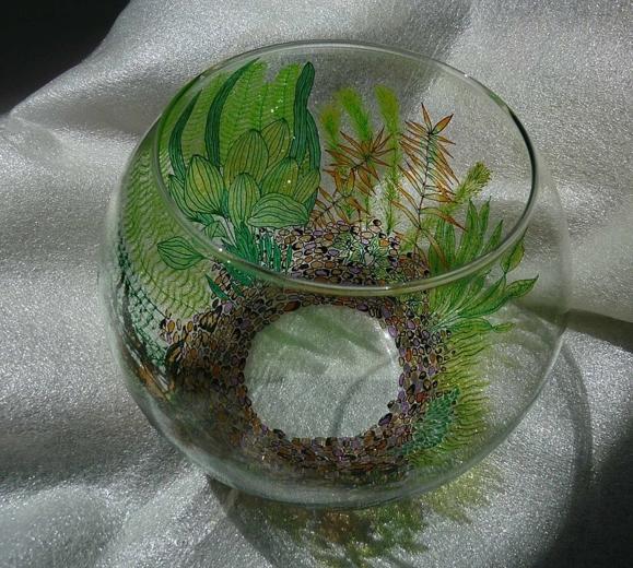 ваза из старого аквариума