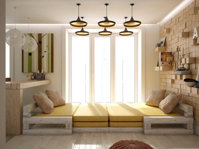 Подиум с просторным местом для отдыха