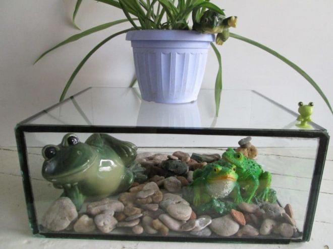 как использовать старый аквариум в интерьере