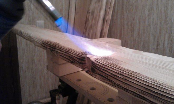 обжиг дерева своими руками с помощью газовой горелки