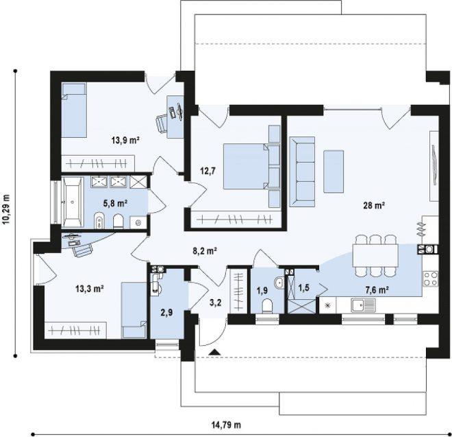 Внутренняя планировка здания