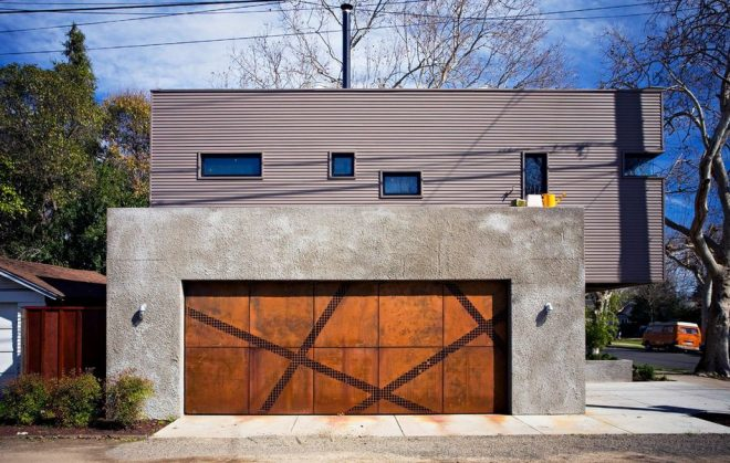 Бетонный гараж