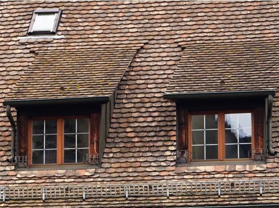 Крыша со слуховыми окнами