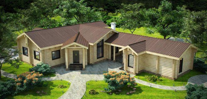 Баня, совмещённая с домом