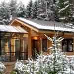 Дом с баней и застеклённой террасой