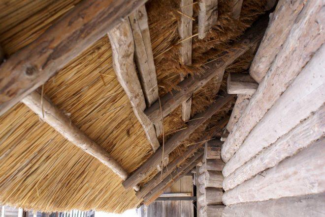 Самодельная камышовая крыша