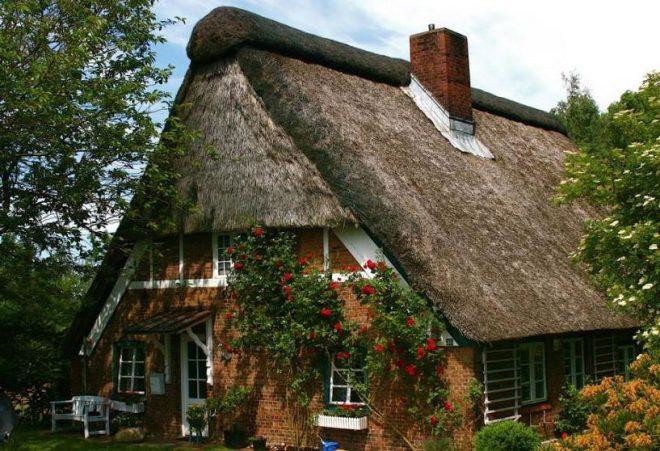 Старая крыша из камыша