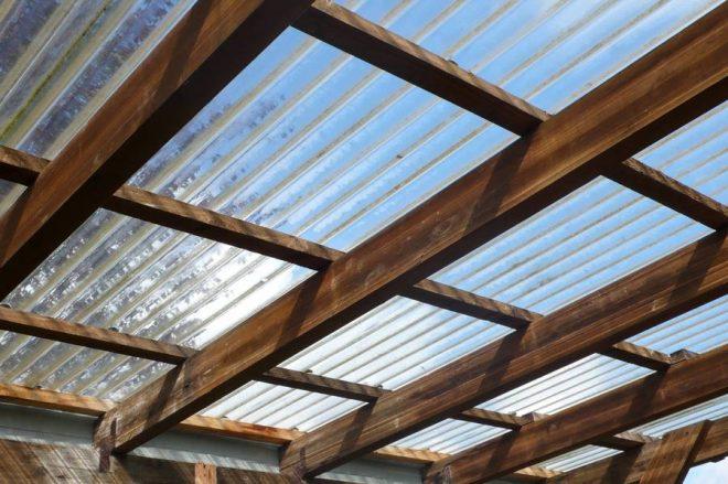 Лёгкая прозрачная крыша