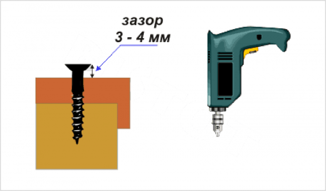 Схема расположения самореза в полимерпесчаной черепице