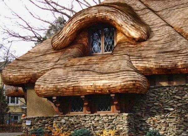 Дом, крытый дранкой
