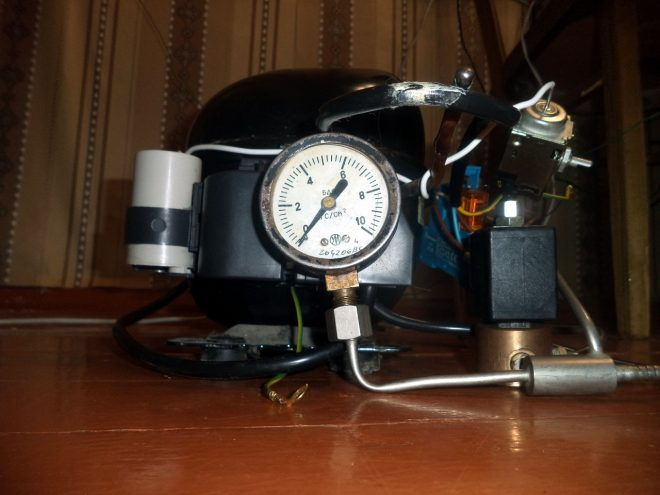 Переделка компрессора для работы в гараже