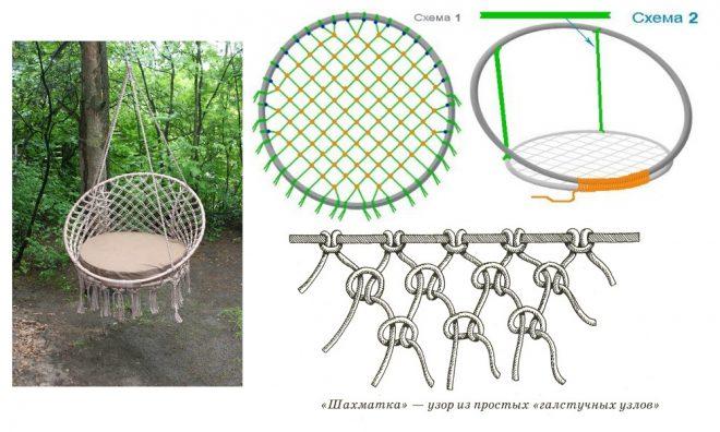 Схема создания кресла-кокона