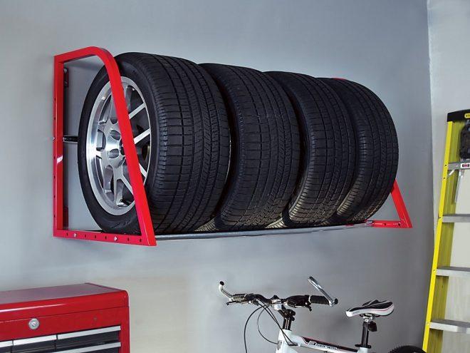 Полка для хранения колёс