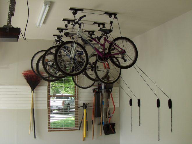 Приспособление для хранения велосипедов