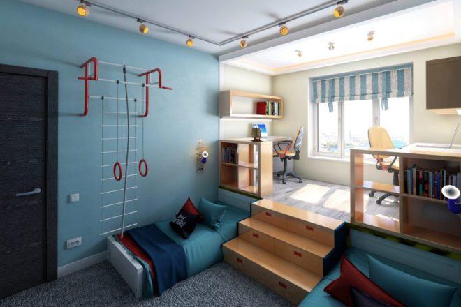 Зонирование в детской комнате