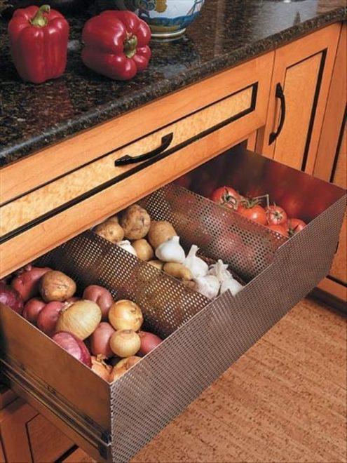 Выдвижной сетчатый ящик для овощей