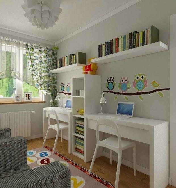 как расставить мебель в квадратной детской комнате