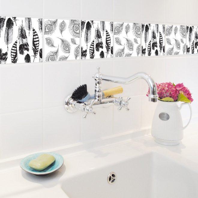 наклейки на кафель в ванную