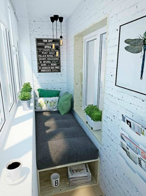 Мини-спальня из балкона