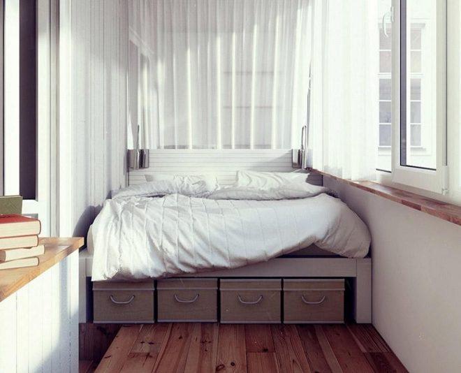 Дизайн уютной мини-спальни