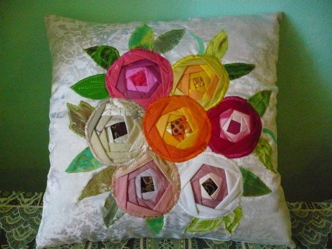 Красивые подушки из лоскутков
