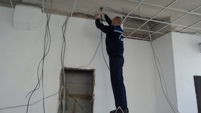 Монтаж электропроводки