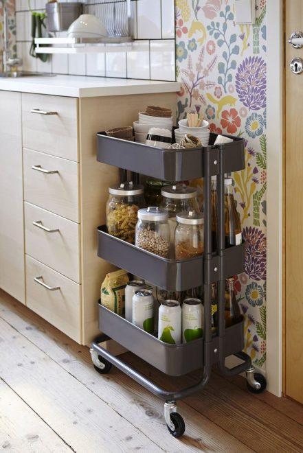 Стеллаж для хранения на кухне