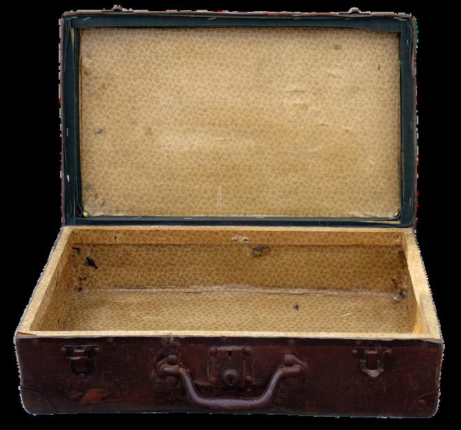 старый пустой чемодан