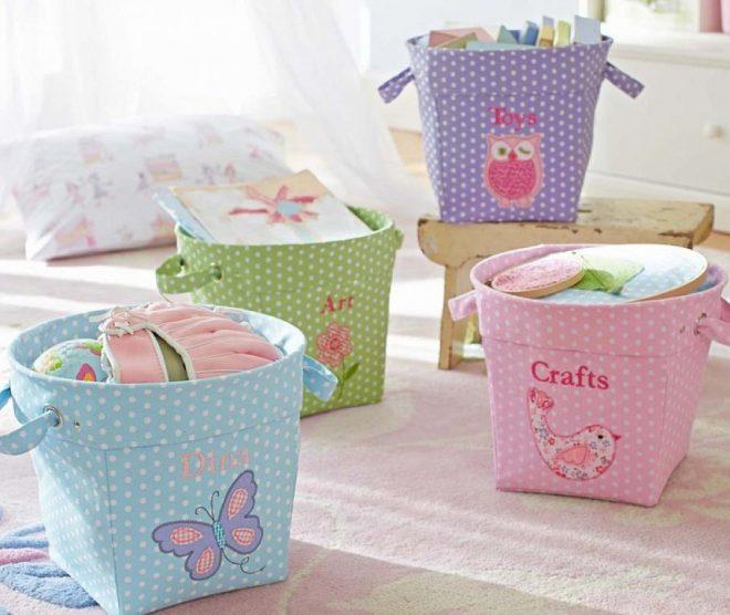 Мягкие корзины для детских игрушек