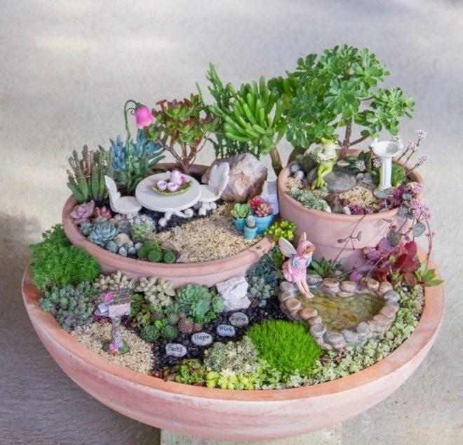 10 волшебных примеров мини-сада своими руками из подручных материалов (фото)