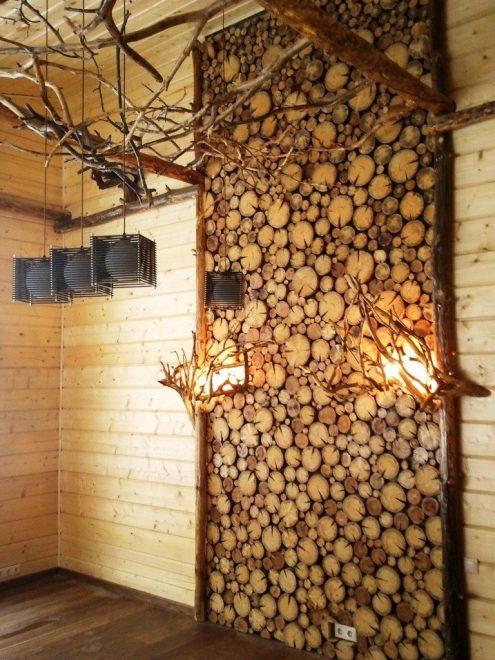 Декор стен экологичными материалами