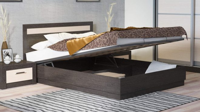 Функциональная мебель в спальне