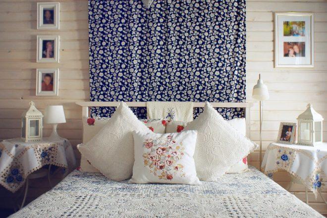 Декорирование стен тканью