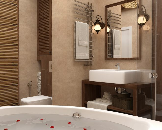 ванная комната в стиле спа