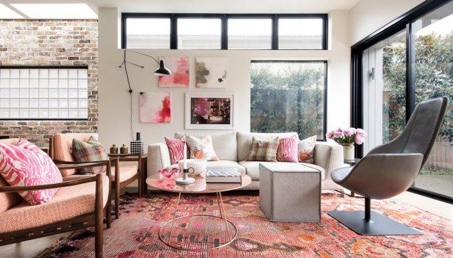 розовый цвет в стиле лофт
