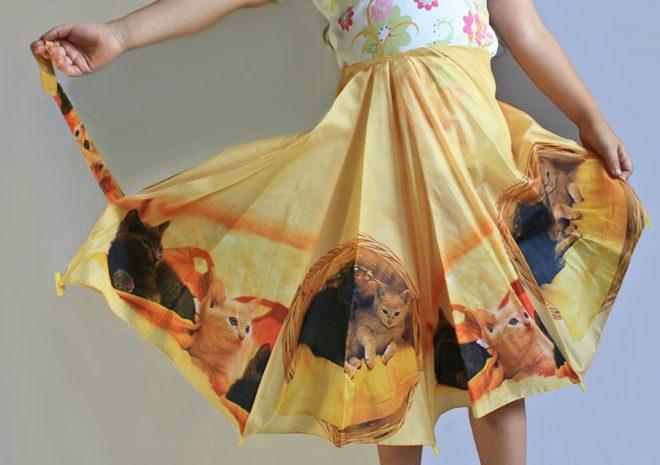 юбка из старого зонта