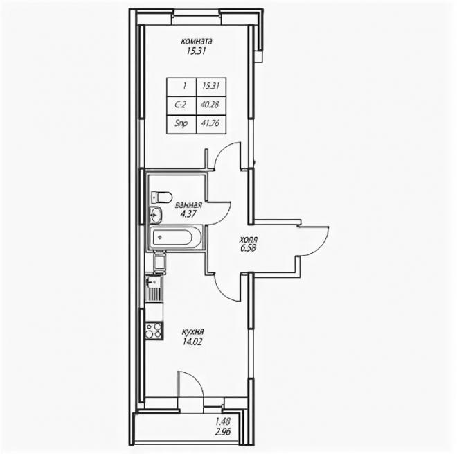 Схема квартиры-распашонки