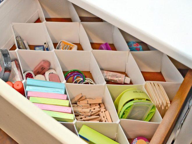 Организация ящика стола