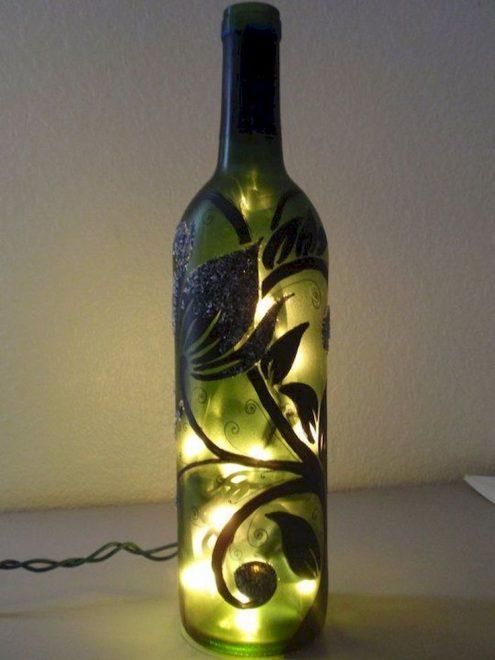 светящаяся бутылка