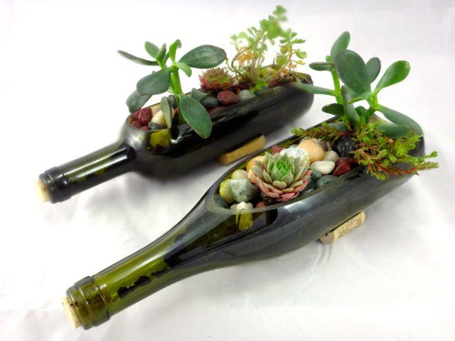цветочный горшок из бутылки